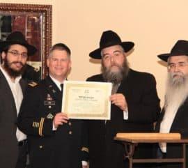 Chaplain Moshe Lans, US Army